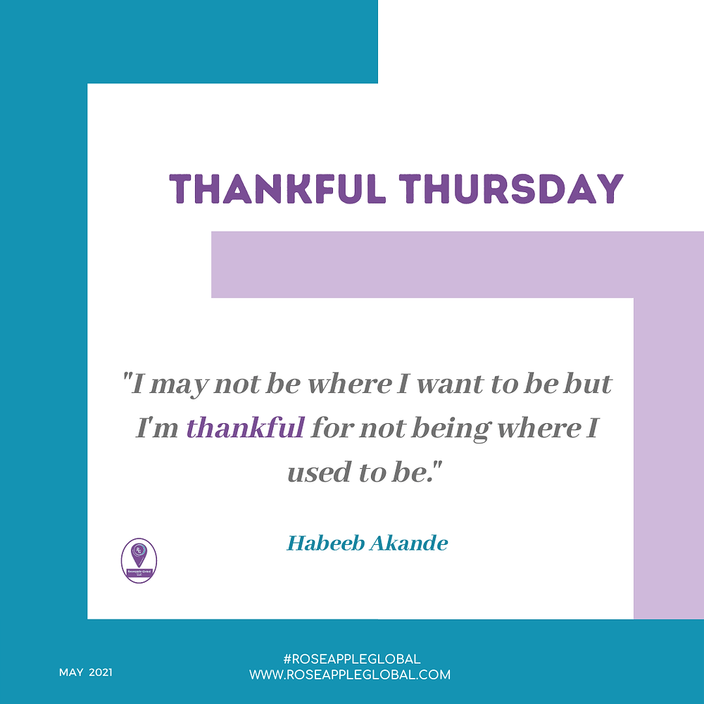 Thankful Quote about being thankful for progress.