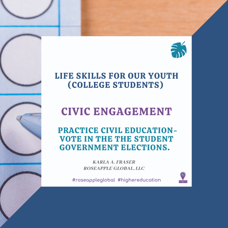 Quote higher education - civic engagement from Roseapple Global