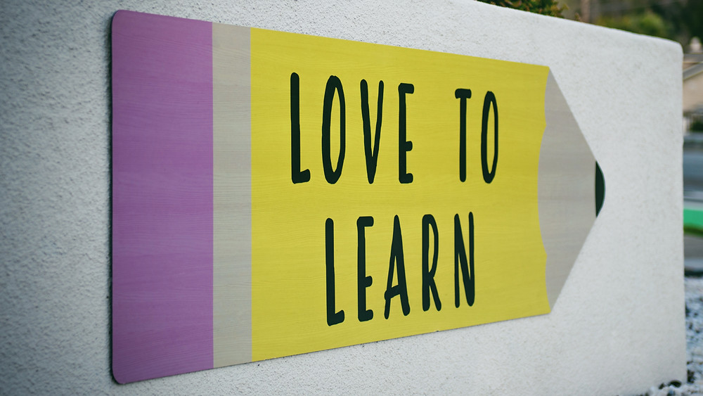 Picture of a quote about learning