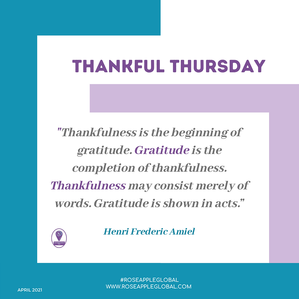 Thankful Quote about gratitude is more than words