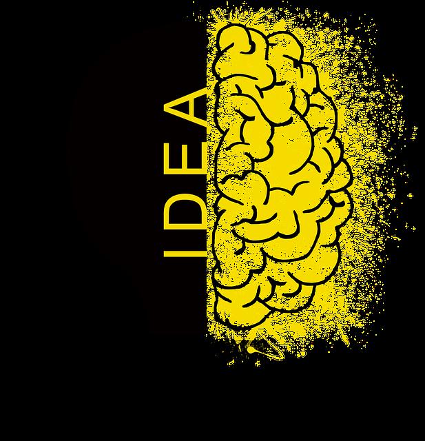 Half Black Lightbulb-Half Yellow Brain