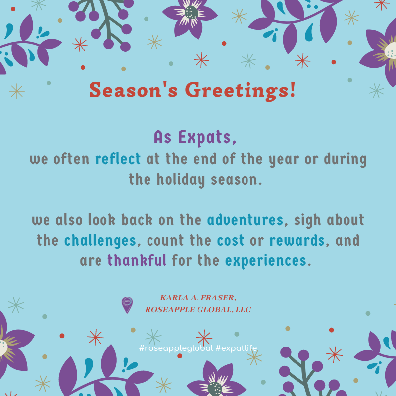 Holiday Expat Quote - About Year-End Reflections