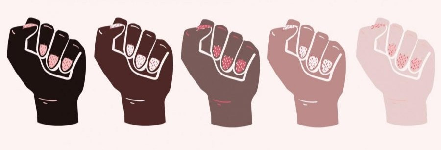 Female Fist Front Facing in Different Skin Tones