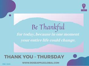 Thank You - Thursday #7