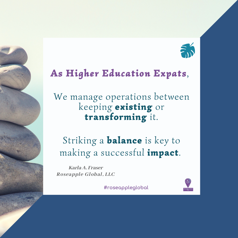 Quote higher education - balance and impact from Roseapple Global