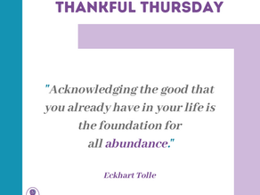 Thankful Thursday #18