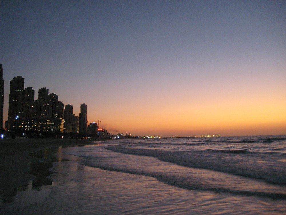 Skyline at Sunset in the Jumeirah Beach Area, 2007
