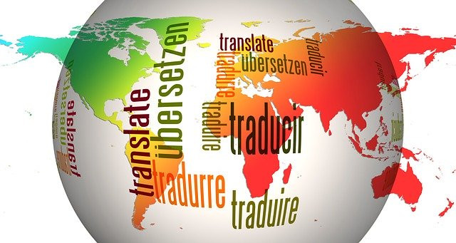 Globle with Words Translate in Several Languages