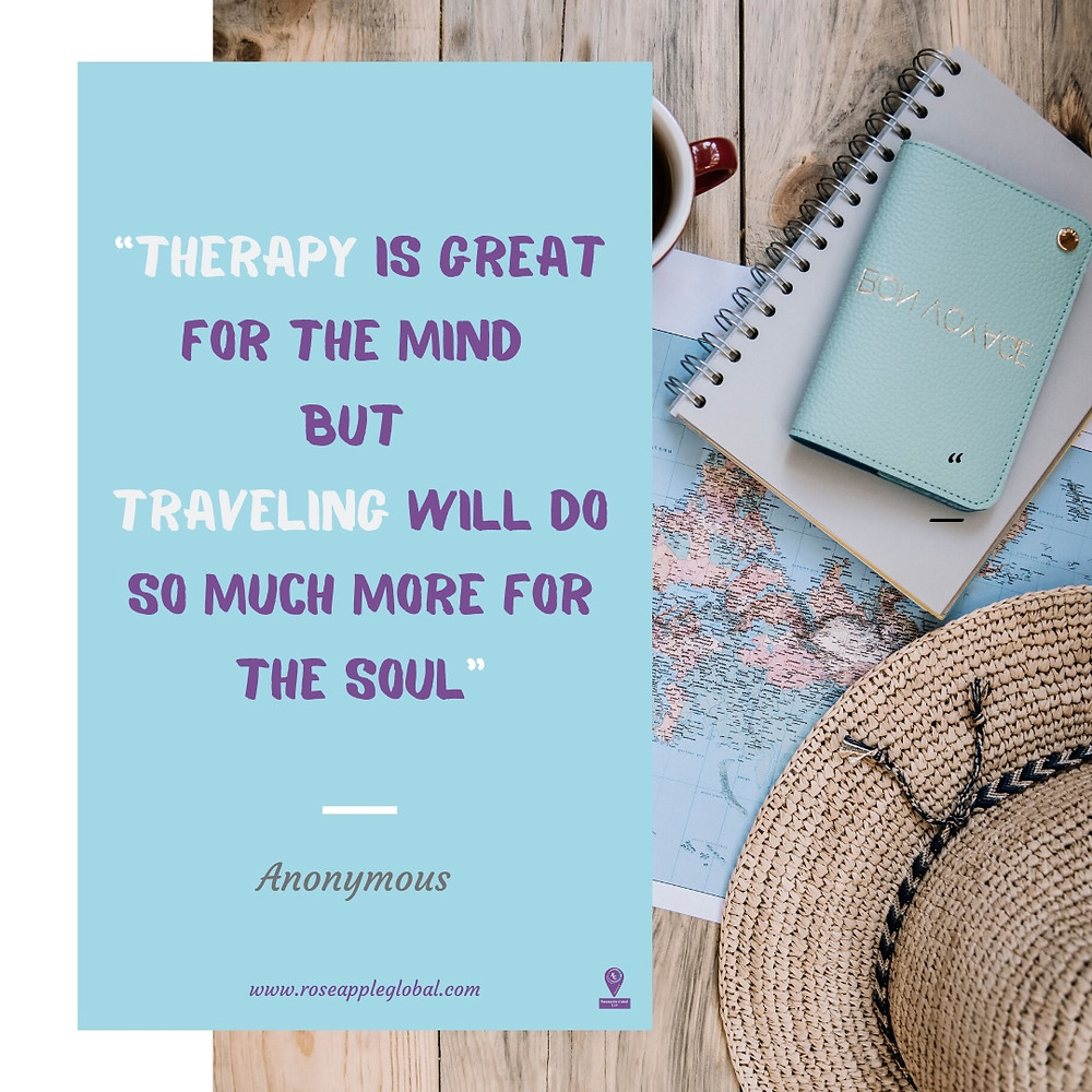 Travel Quote about Traveling as Therapy