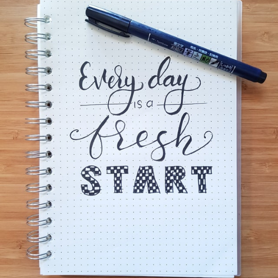"""Quote about """"Fresh Start"""""""