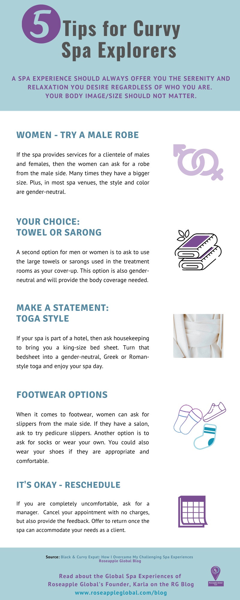 Infographic - Tips for curvy spa explorers