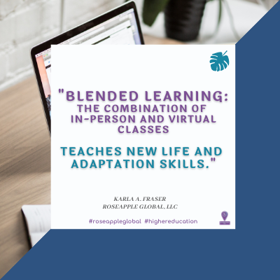 Quote higher education - blended learning from Roseapple Global