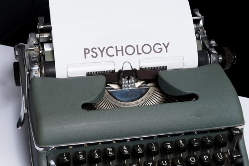 Image: Typewriter with Psychology typed on a write paper.