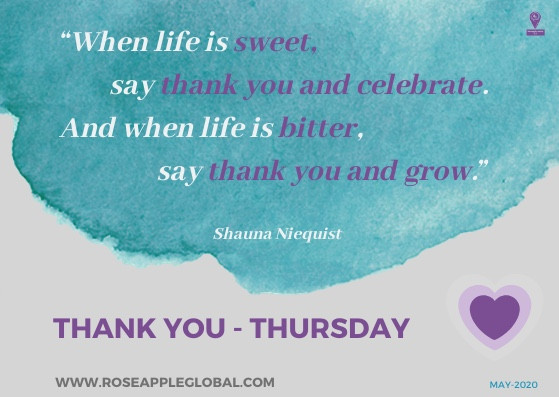 Quote from Maya Angelou about Thankfulness