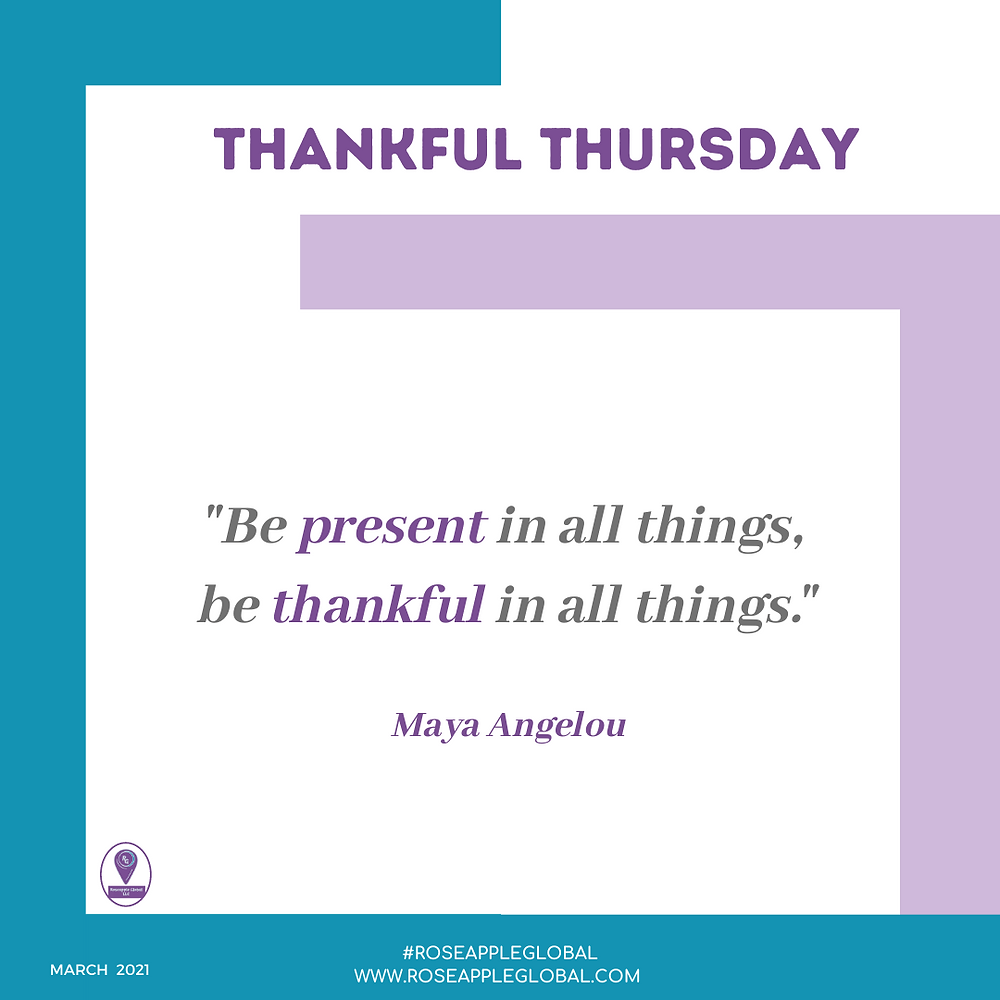 Thankful Quote about present and thankful