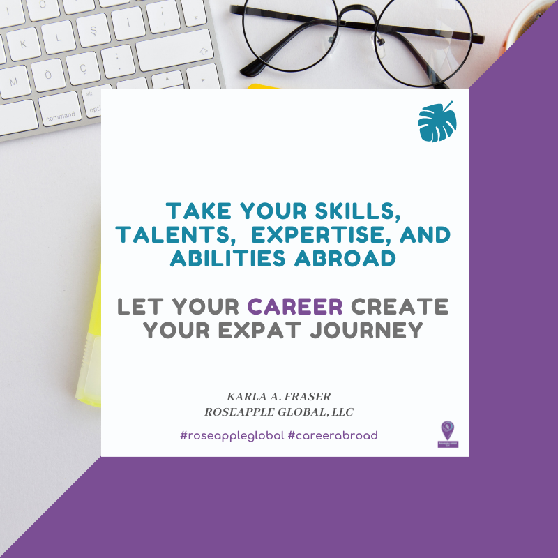 Quote about taking your careers abroad from Roseapple Global