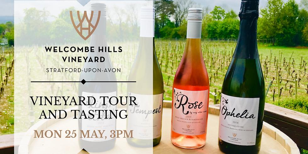 25 May, 3pm - Vineyard Tour and Wine Tasting