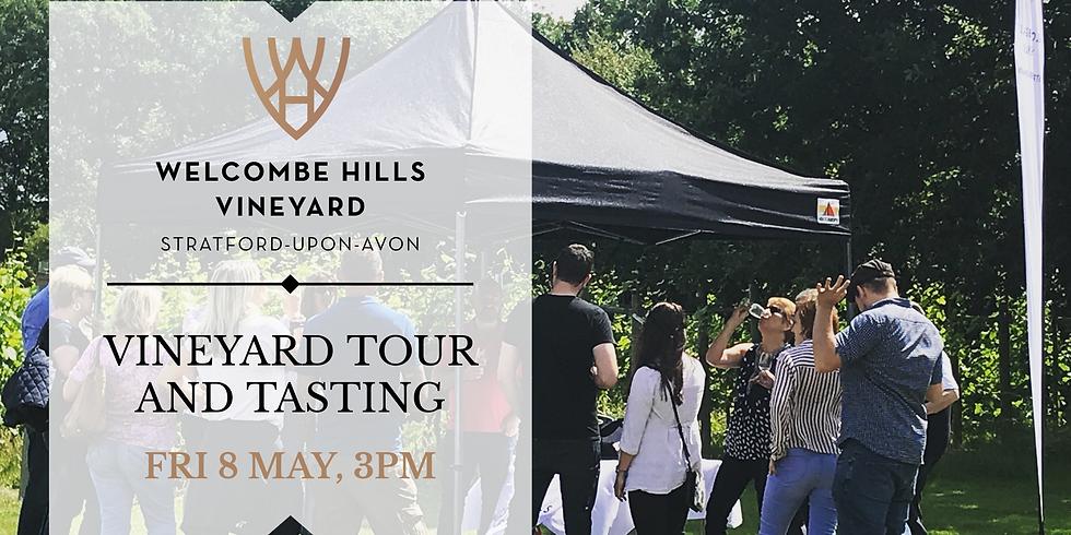 8 May, 3pm - Vineyard Tour and Wine Tasting