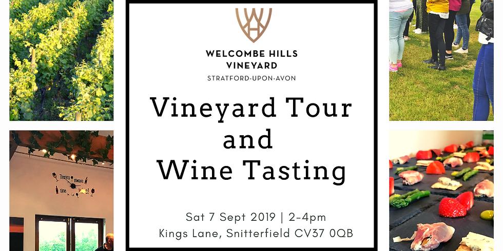 Vineyard Tour and Wine Tasting - September 2019 (2pm) *FULL*