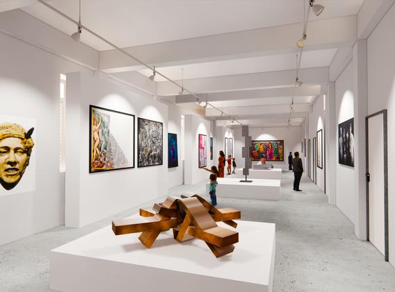 Vista interior de galeria