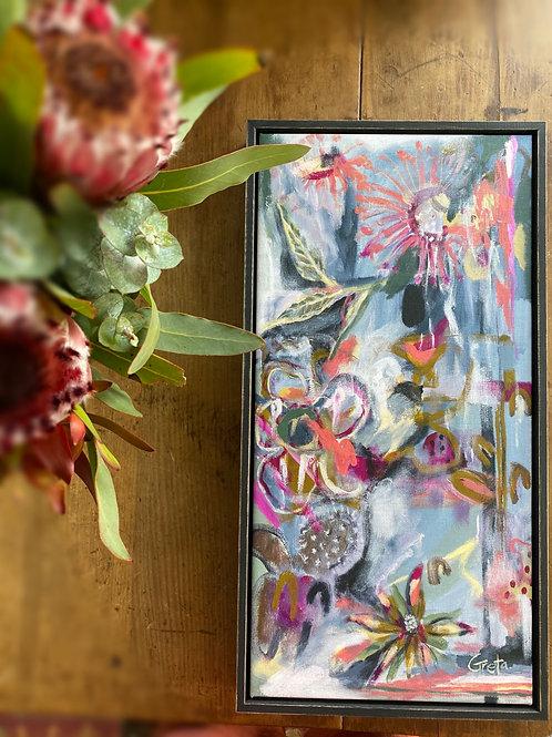 Hummingbird & the bee - FRAMED canvas print