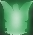 Lady Butterfly sillouette Green.png