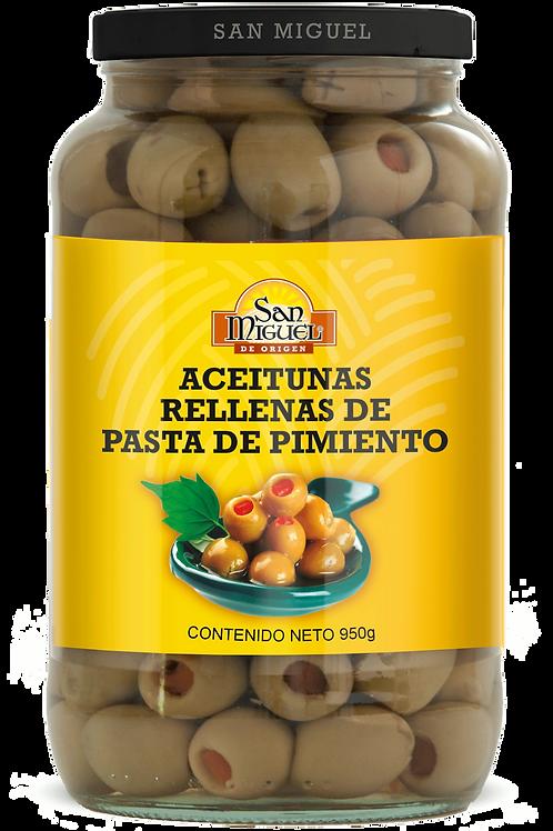 ACEITUNAS CON PIMIENTO - 12 FRASCOS DE 950 GR