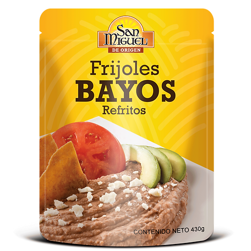 FRIJOLES BAYOS - 12 POUCH DE 430 GR