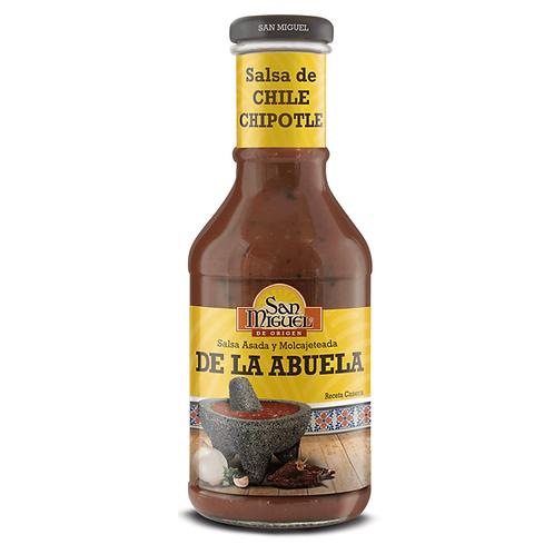 SALSA DE CHILE CHIPOTLE  DE LA ABUELA - 12 BOTELLAS DE 450GR