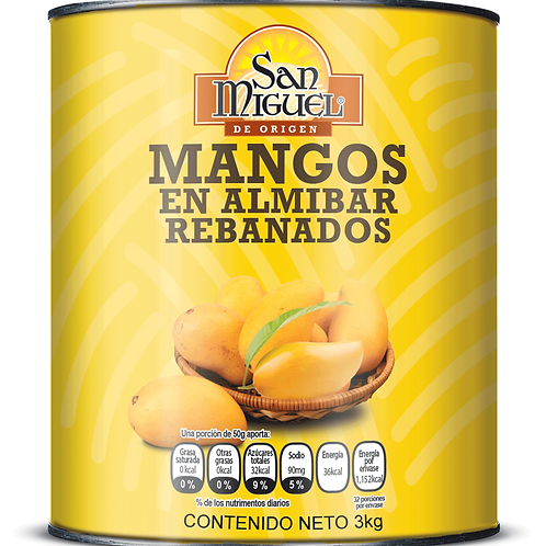 MANGOS EN ALMIBAR - 6 LATAS DE 2950