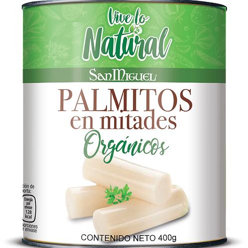 PALMITOS ORGÁNICOS EN MITADES - 12 LATAS DE 400 GR