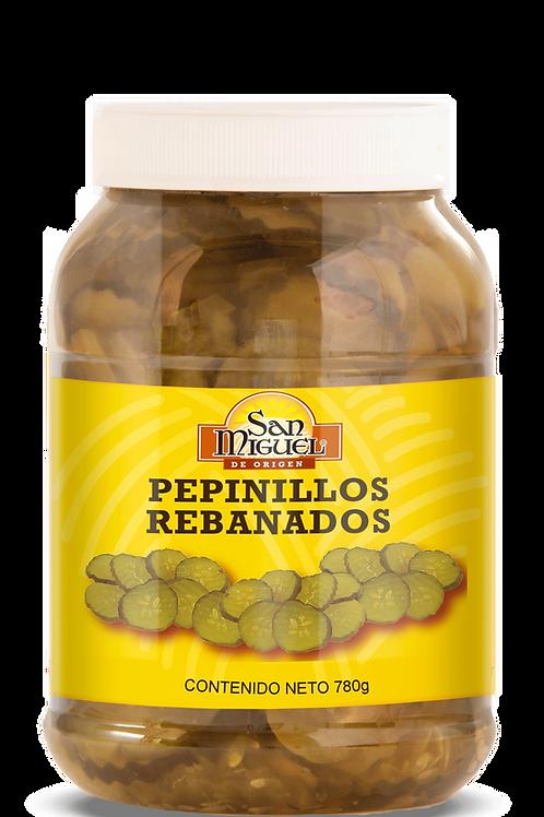 PEPINILLOS REBANADOS - 12 FRASCOS DE 780 GR