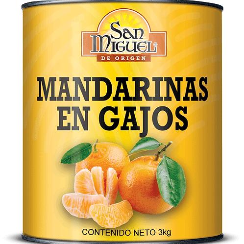 MANDARINAS EN GAJOS - 6 LATAS DE 3000 GR