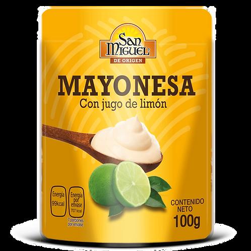 MAYONESA CON JUGO DE LIMÓN - 12 POUCH DE 100 G