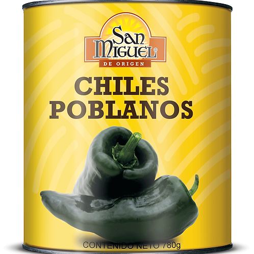 CHILE POBLANO - 12 LATAS DE 780 GR