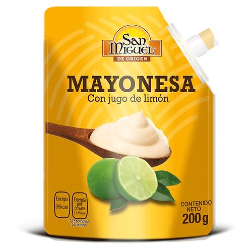 MAYONESA CON JUGO DE LIMÓN - 12 POUCH DE 190 G