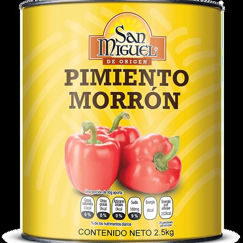 PIMIENTOS MORRONES - 6 LATAS DE 2500 GR