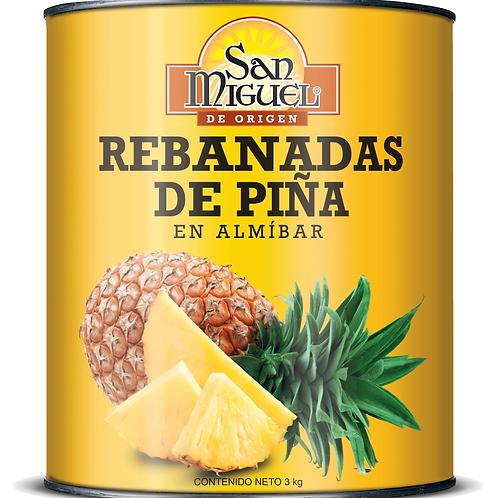 PIÑAS REBANADAS - 6 LATAS DE 3 Kg