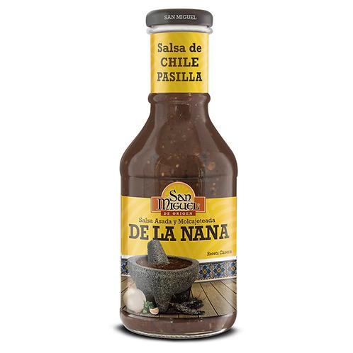 SALSA DE CHILE PASILLA DE LA NANA - 12 BOTELLAS DE 450GR