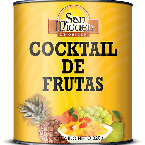 COCKTAIL DE FRUTAS - 12 LATAS DE 820 GR