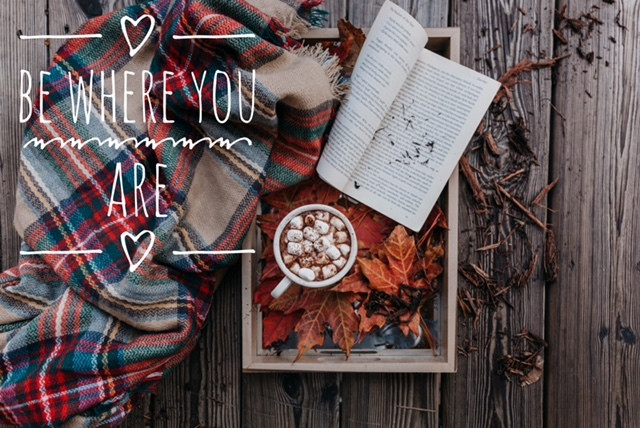 Fall montage including blanket, book, cocoa from Sanctuary Christian Counseling in Shippensburg PA