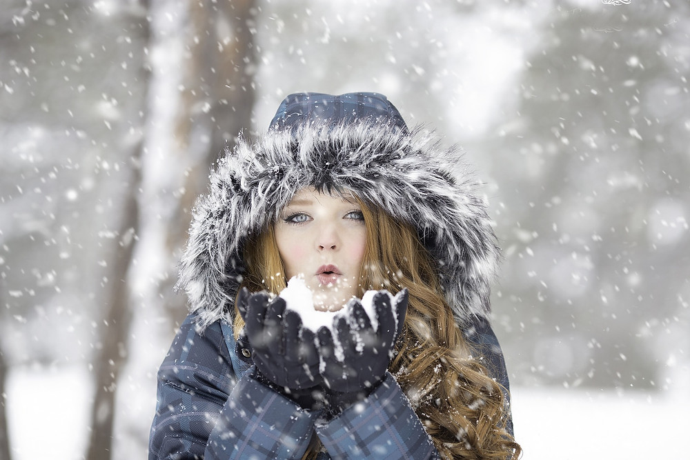 Girl in snow near Sanctuary Christian Counseling in Shippensburg PA