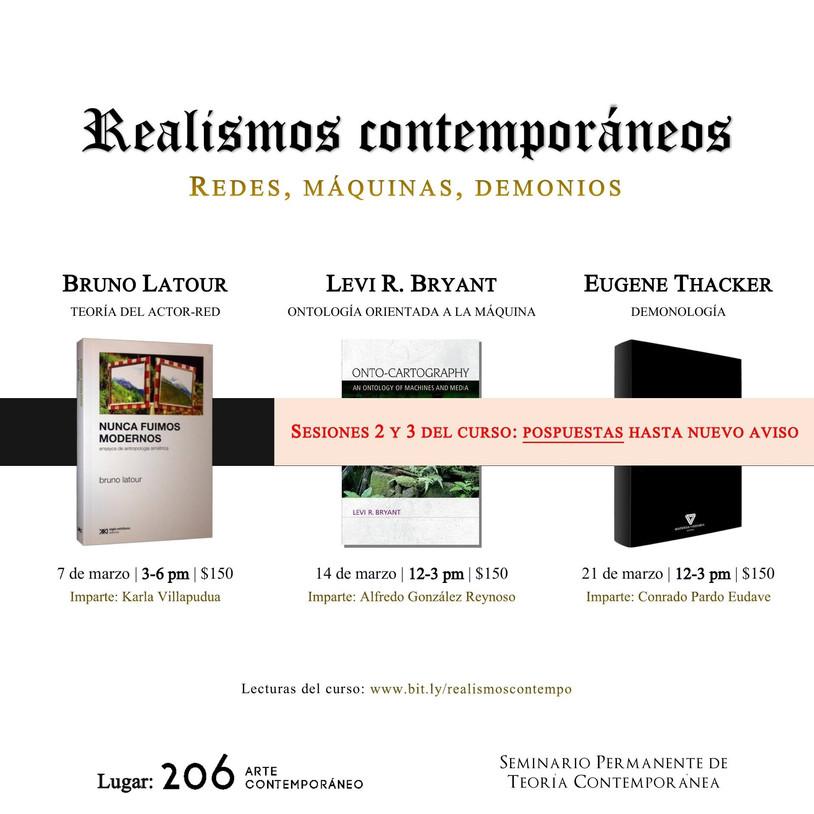 Se pospone el taller de Realismos Contemporáneos de SPTC.