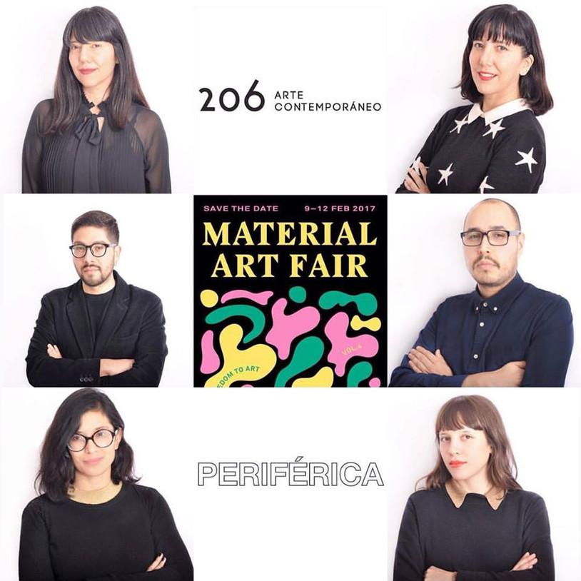 Preparándonos para Material  Art Fair. Les presentamos al equipo de trabajo de 206 Arte Contemporáne
