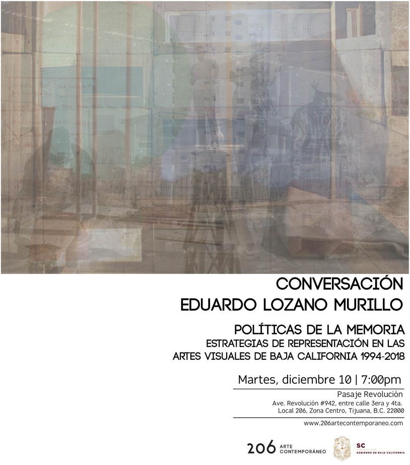 Conversación con Eduardo Murillo Lozano | 10 de diciembre | 7:00pm