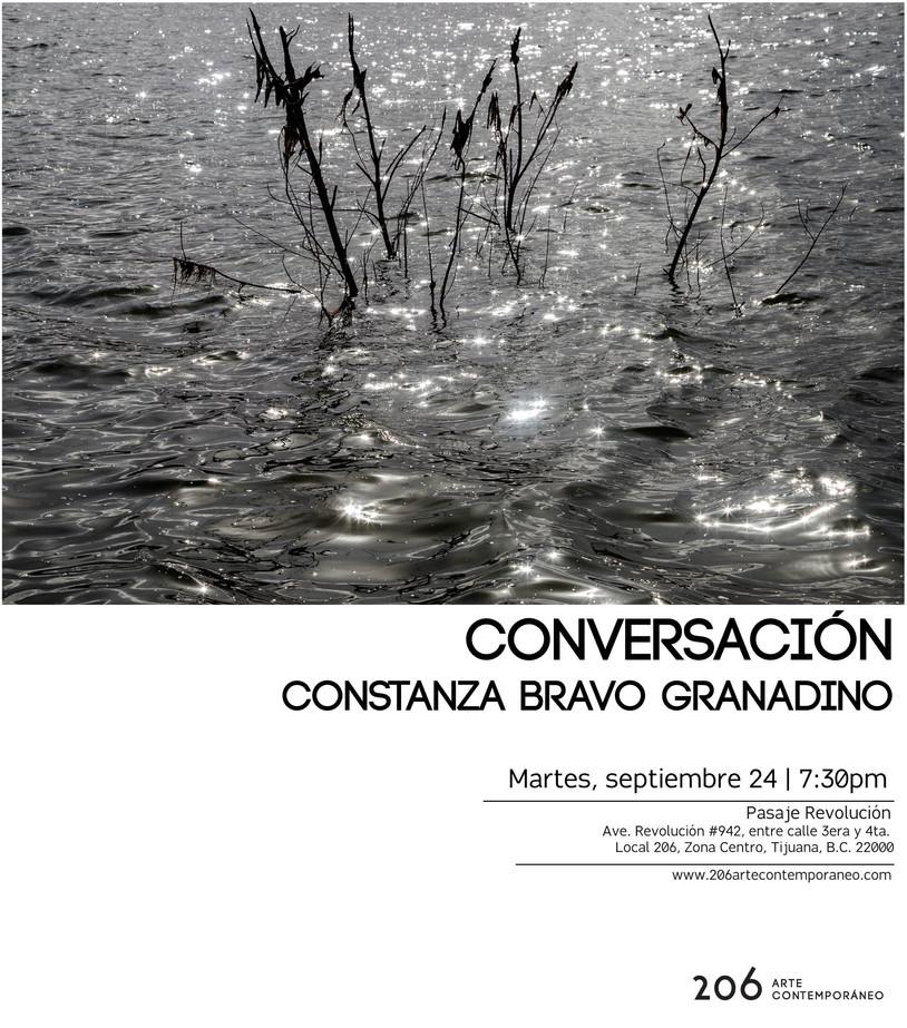 Conversación con la fotógrafa Constanza Bravo | Martes 24 de septiembre a las 7:30pm en 206 arte con