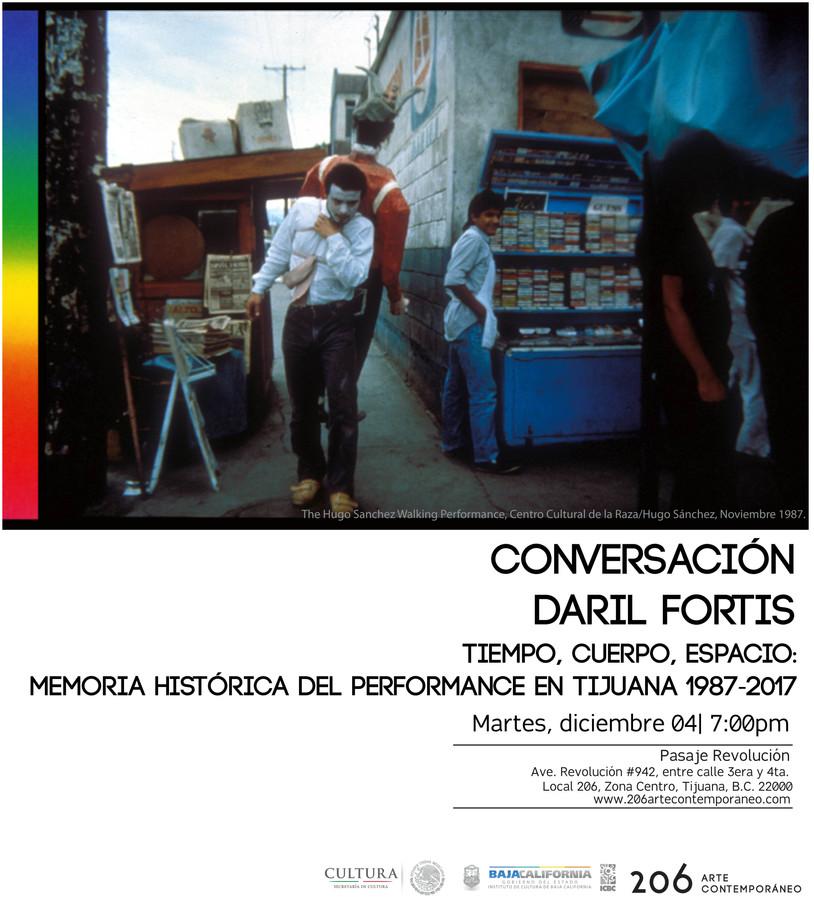 Tiempo, cuerpo, espacio: memoria histórica del performance en Tijuana 1987-2017 | Daril Fortis | Mar
