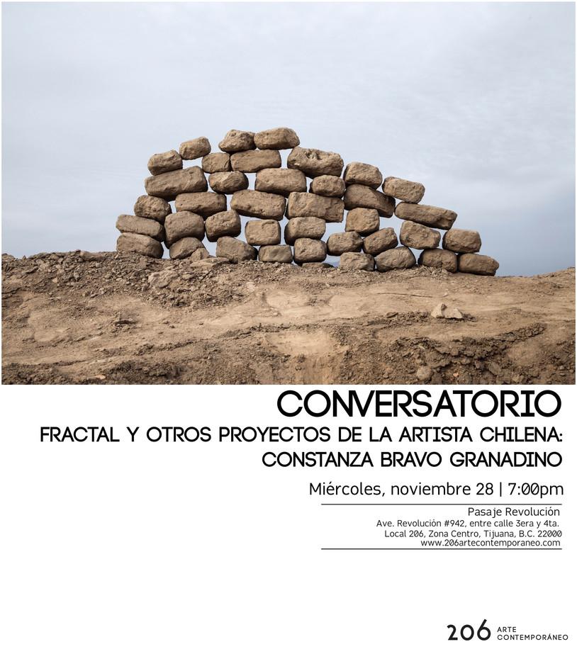 Conversatorio | Fractal y otros proyectos de la artista chilena: Constanza Bravo Granadino | Miércol