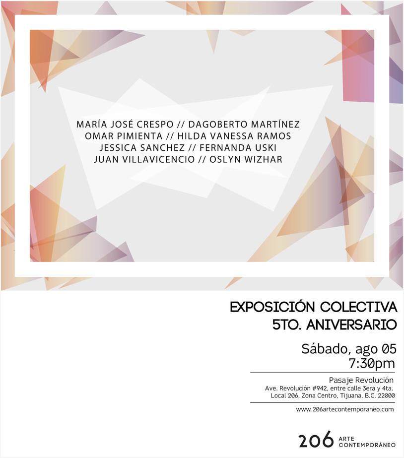EXPOSICIÓN COLECTIVA | 5TO. ANIVERSARIO