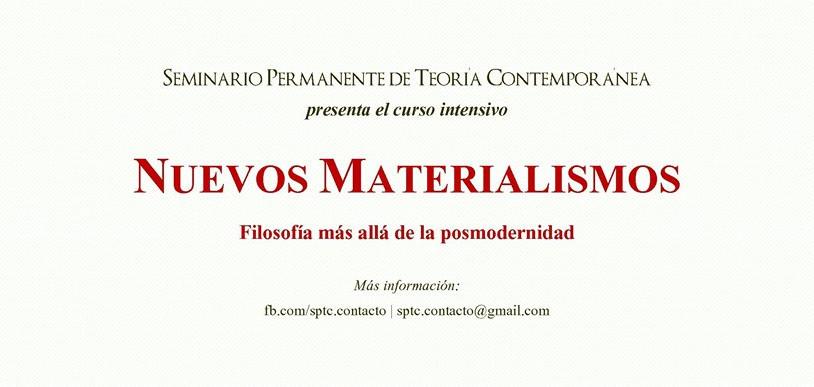 Seminario Permanente de Teoría Contemporánea esta por iniciar un curso intensivo en 206 Arte Contemp